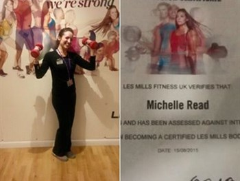 Well done Michelle on becoming a Body Pump Instructor