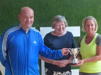 Husband and wife team double up for county tennis triumph