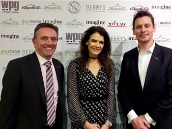 Annabel Croft entertains guests at Shrewsbury sports dinner