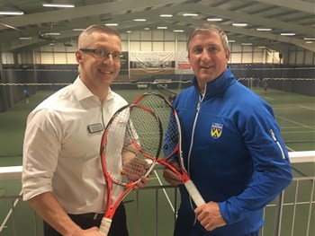 Morris & Co Homes serves up support as professional tennis returns to Shrewsbury